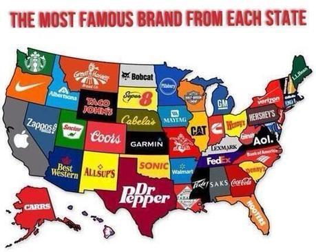 The most Famous Brand from each State | Education Matters - (tech and non-tech) | Scoop.it
