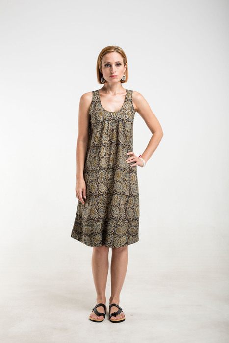 tan paisley kalamkari cotton sun dress | 2014 Collection | Scoop.it