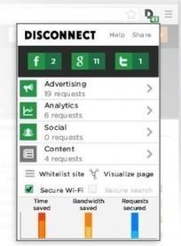 Vie privée : Disconnect.me bloque le reciblage publicitaire | internet=vie publique et vie privée | Scoop.it