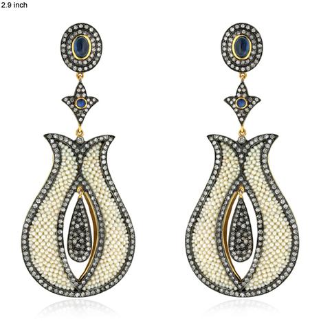 Designer Pearl Dangle Earrings | 18k Gold Jewelry | GemcoDesigns | Pave Diamond Palm Bracelets | Diamond Jewelry | GemcoDesigns | Scoop.it