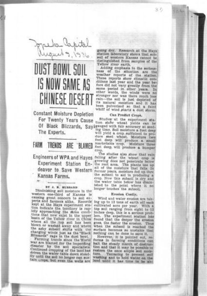 Dust Bowl soil is now same as Chinese desert - Kansas Memory | *The Dust Bowl of the Great Plains* | Scoop.it