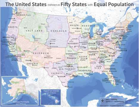 Electoral college reform (fifty states with equal population) – fake is the new real | Geospatial Industry | Scoop.it