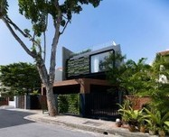Contemporary Home in Singapore With Sloping Rooftops and Vertical Gardens | Urban Greening | Scoop.it
