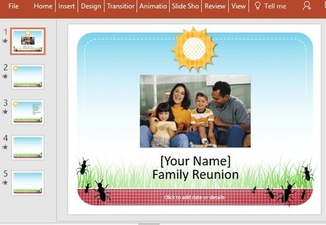 Free Family Reunion PowerPoint Template | PowerPoint presentations and PPT templates | Scoop.it
