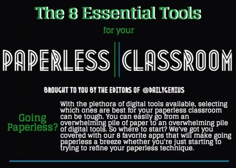 The best tools for your paperless classroom - Daily Genius | Edtech PK-12 | Scoop.it