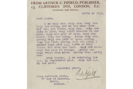 Try, Try Again: Rejection Letters Received by Bestselling Authors | Bestseller Wisdom | Scoop.it