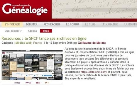 Les archives de la SNCF | CGMA Généalogie | Scoop.it