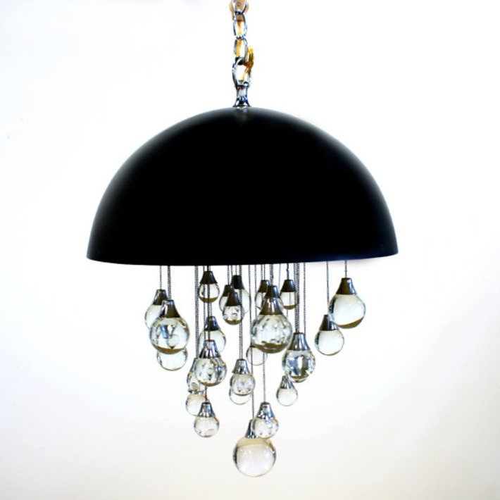 Mod Glass Hanging Chandelier | Antiques & Vintage Collectibles | Scoop.it