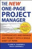 The New One-Page Project Manager, 2nd Edition - Fox eBook | Project managemente in One-Page | Scoop.it