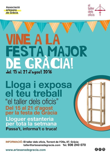 Associació d'Artesans de Gràcia - El taller dels oficis | Plaça Lesseps | Scoop.it