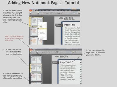 Note Pad Page Turn Tool Kit - A PowerPoint Template from PresenterMedia.com | Educational Technology Tools and Tips | Scoop.it