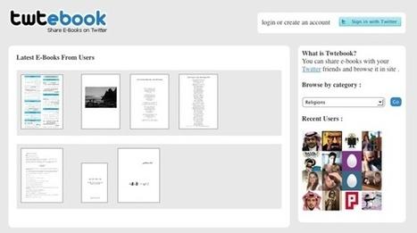 Twtebook – comparte libros electrónicos en Twitter   Libros electrónicos   Scoop.it