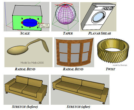 FredoScale for SketchUp - Complete toolset to deform the geometry of SketchUp model | SketchUp Library | Scoop.it