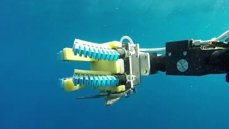 Soft robotic grippers lend a delicate hand in undersea exploration | Gizmag | Cultibotics | Scoop.it