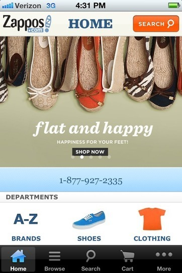 Zappos Unveils Keys To Mobile Success | Omnichannel Retailing | Scoop.it