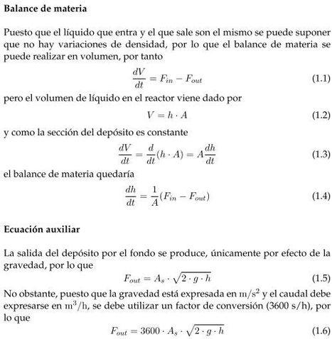 Modelo Matemático   Simulación Depósito   Scoop.it