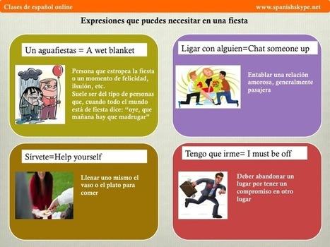 Expresiones para una fiesta - Spanish Skype Lessons   Aprender español online via skype   Scoop.it