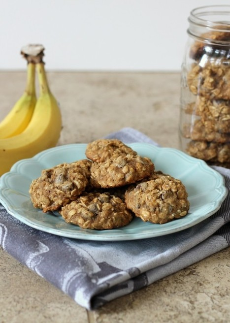 #HEALTHYRECIPE - Banana Oatmeal Chocolate Chip Cookies | Health and well-being | Scoop.it