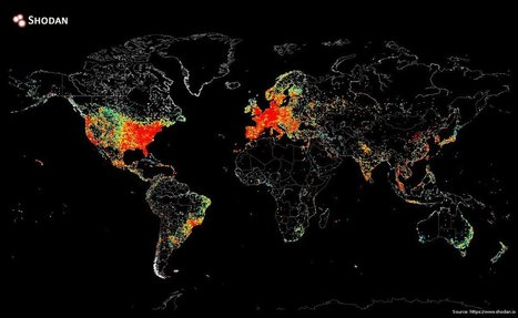 This World Map Shows Every Device Connected To The Internet | Social Media, Social Might | Scoop.it