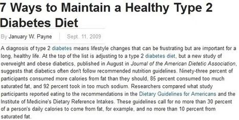Nutritionist in DC: Managing Type 2 Diabetes through a Healthy Diet   NuWeights   Scoop.it