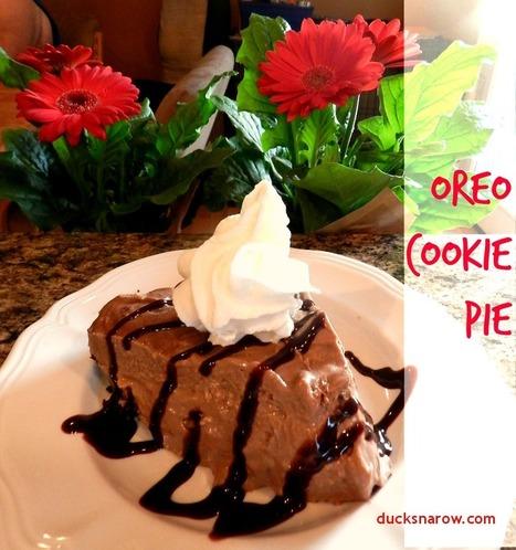 Ducks 'n a Row: No-Bake Oreo Cookie Pie | Just Chocolate!!! | Scoop.it