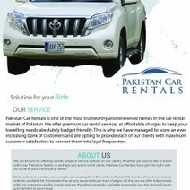 Hire the Brand New Cars form Pakistan Car Rentals at Cheap Affordable Rates.   Visual.ly   Services   Scoop.it