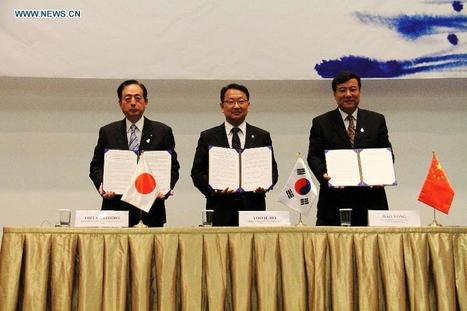 China, S. Korea, Japan agree to strengthen trilateral cooperation on water policy innovation - Xinhua | English.news.cn | Water issues in China | Scoop.it