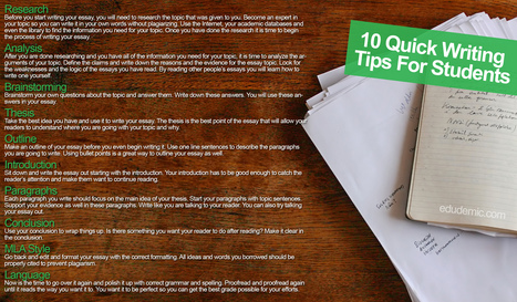 10 Quick Writing Tips For Students | Middle School Readers & Writers' Circle | Scoop.it