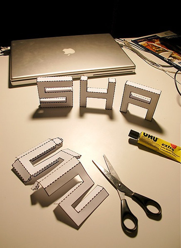how to make 3d letters on paper