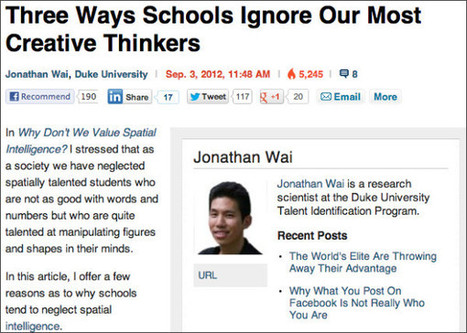 Three Ways Schools Ignore Our Most Creative ... - It's About Learning | Are you game to learn? | Scoop.it