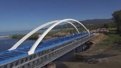 La structure du nouveau pont du Liamone en Corse du sud est en place - France 3 Corse ViaStella   Construire en Acier   Scoop.it