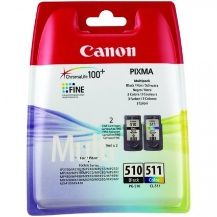 Canon Original PG-510 / CL-511 Combo Pack 2970B010 | MyPrinteInk -Cheap Remanufactured InkJet Cartridge Store | Scoop.it