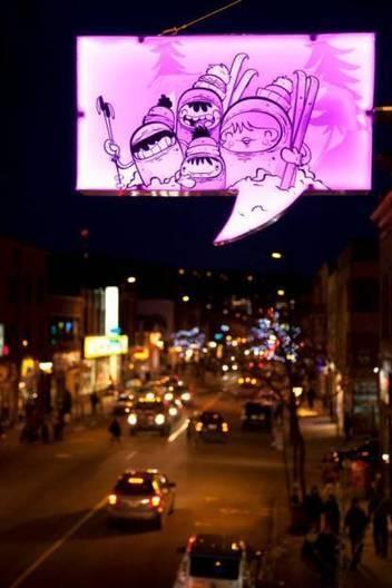 Des panneaux aux allures de BD illuminent Montréal | streetmarketing | Scoop.it