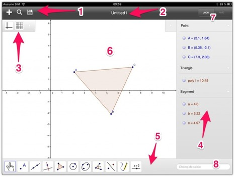 Tutoriel GeoGebra version tablettes tactiles | TICE, Web 2.0, logiciels libres | Scoop.it