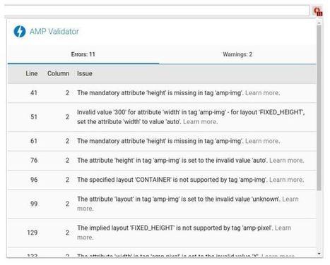AMP Validator : Une extension Chrome qui aide à corriger les erreurs AMP   Web   Scoop.it