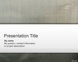 Grey PowerPoint Template | Free  PowerPoint Templates | Scoop.it