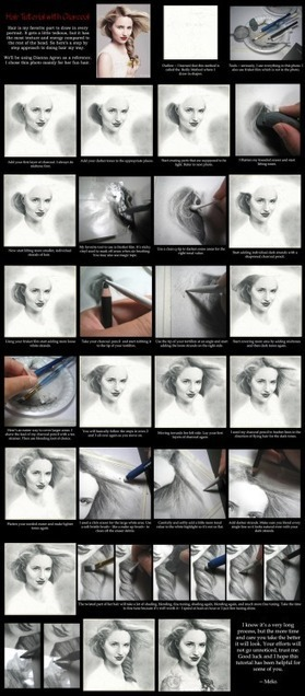 Hair Tutorial Using Charcoal | Art References | Scoop.it
