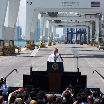 Chinese company's logo conveniently absent from White House photo of Obama's US infrastructure speech | Littlebytesnews Current Events | Scoop.it