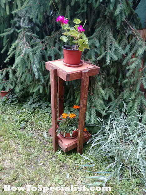 How To Build A Christmas Tree Stand Garden Pl: how to build a tiered plant stand