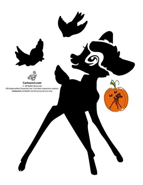 Classic Disney Pumpkin Stencils Disney's Bambi Jack o' Lantern Cutout – Cartoon Jr. | Crafty Crafts-all free | Scoop.it