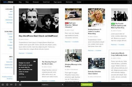 21 Responsive, Free WordPress Themes - Multy Shades | Template & Webdesign | Scoop.it