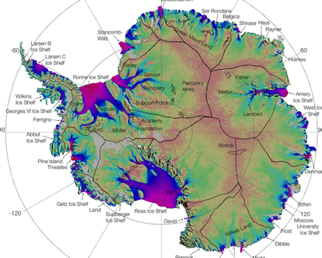 An Antarctica Floe Chart Worthy Of Your Icy Stares | Fast Company | green infographics | Scoop.it