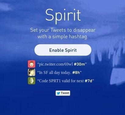 Twitter: une date d'expiration à vos tweets avec Spirit | Geeks | Scoop.it