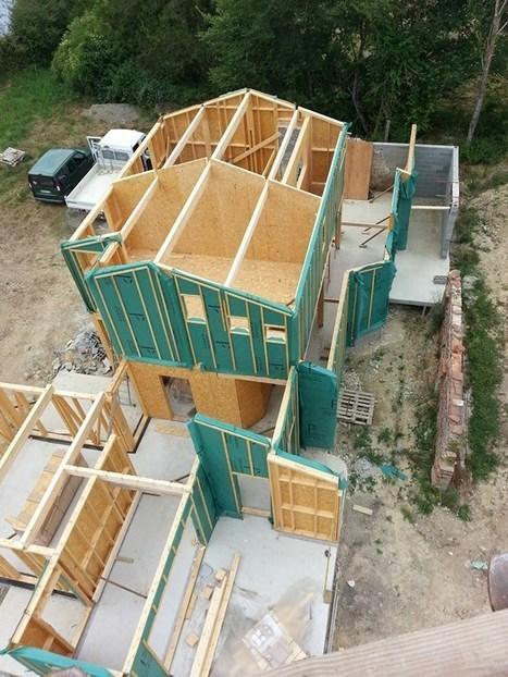 HEPOC – Chantier d'une maison bois avec remplissage chaux chanvre et fibre de bois | architecture..., Maisons bois & bioclimatiques | Scoop.it