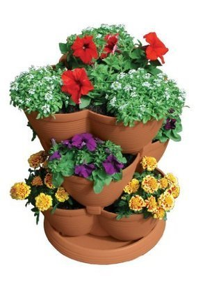 Patio Gardening and Stackable Planters | Porch, Patio and Outdoor Decor | Scoop.it