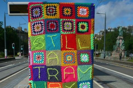 Nimble-fingered knitter covers entire tram stop in Edinburgh in a bizarre blanket protest against controversial scheme | Today's Edinburgh News | Scoop.it