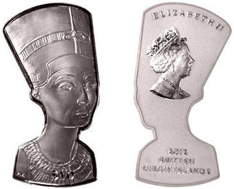 Bust of Nefertiti Silver Coin Marks Centennial of Archaeological Find | Coin Update | Frederickersburg, Texas | Scoop.it