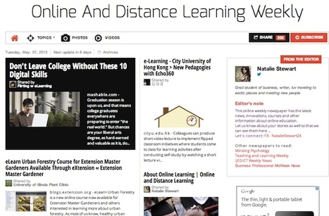 May 7, 2013: Online And Distance Learning Weekly is out | Education Technologies and Emerging Media | Scoop.it