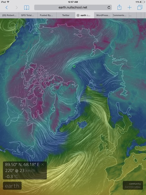 Warm Arctic Storms Aim to Unfreeze the North Pole Again -- That's 55 Degrees (F) Above Normal For January | GarryRogers Biosphere News | Scoop.it