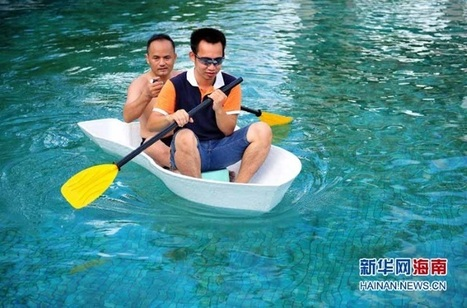 Chinese Company 3D Prints a Full Size 2-person Boat - 3DPrint.com | Machinimania | Scoop.it